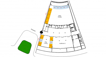 Check out the exhibition area and choose the best location for your stand!